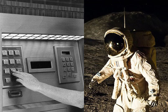 ATM and man on the moon
